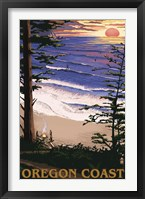 Framed Oregon Coast Sunset Ad