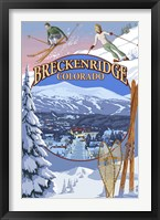 Framed Breckenridge Colorado Ad