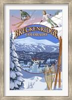 Framed Breckenridge Colorado Ad
