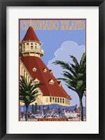 Framed Coronado Island Ad