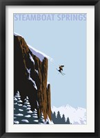 Framed Steamboat Springs Ski Jump