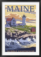 Framed Nubble Lighthouse Ad