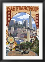 Framed San Francisco Trolley Ad