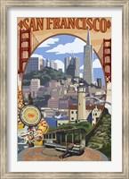 Framed San Francisco Trolley Ad