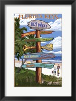 Framed Florida Keys Sign Ad