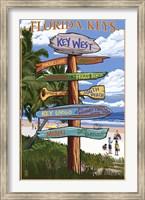 Framed Florida Keys Sign Ad