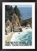 Framed McWay Falls Big Sur Coast