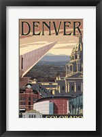 Framed Denver Colorado Ad