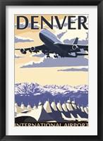 Framed Denver Airport Ad