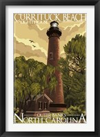 Framed Currituck Beach Lighthouse Carolina