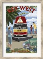 Framed Key West Southernmost Point