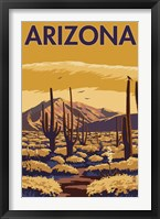 Framed Arizona Cactus Scene