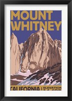 Framed Mount Whitney Elevation