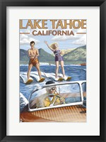 Framed Lake Tahoe California Water Ski