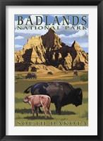 Framed Badlands National Park Wilderbeest