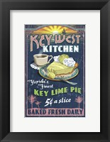 Framed Key West Kitchen Lime Pie