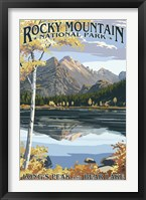 Framed Long's Peak Rocky Mountain
