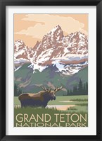 Framed Grand Teton National Park Moose