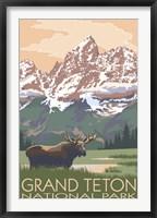Framed Grand Teton National Park Moose