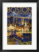 Framed Boston Massachusetts Paul Revere
