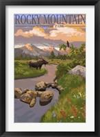 Framed Rocky Mountain Park Moose