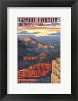 Framed Grand Canyon Park Mather Point