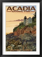 Framed Acadia Park Bass Harbor Lighthouse