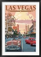 Framed Las Vegas (vintage ad)