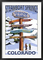 Framed Steamboat Springs Colorado Signs