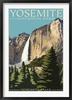 Framed Yosemite Falls Park Ad