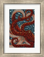Framed Octopus Mosaic