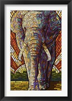 Framed Elephant Mosaic