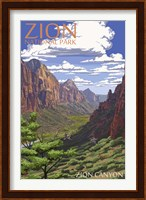 Framed Zion Canyon