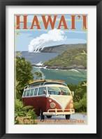 Framed Hawaii Volcanoes Cruising