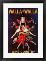 Framed Walla Walla Wine Country