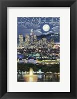 Framed Los Angeles California Night Scene