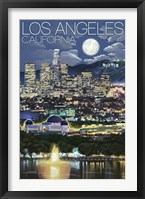 Framed Los Angeles California Night Scene