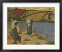 Framed Washerwomen At The Laita River, Near Pouldu, 1892