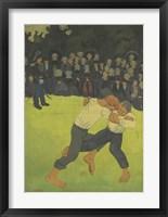 Framed Breton Wrestler,  1891-1892