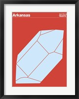 Framed Montague State Posters - Arkansas