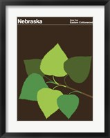 Framed Montague State Posters - Nebraska