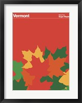Framed Montague State Posters - Vermont