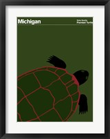 Framed Montague State Posters - Michigan