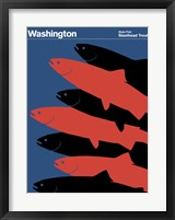 Framed Montague State Posters - Washington