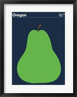 Framed Montague State Posters - Oregon
