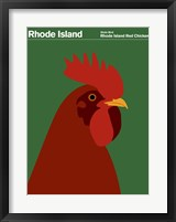 Framed Montague State Posters - Rhode Island