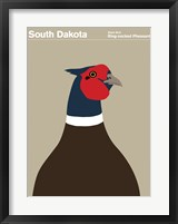Framed Montague State Posters - South Dakota