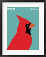 Framed Montague State Posters - Indiana