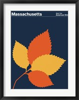 Framed Montague State Posters - Massachusetts