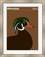 Framed Montague State Posters - Mississippi